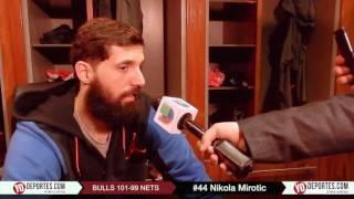Nikola Mirotic juega enfermo y pelea balon a los Nets de Brooklyn