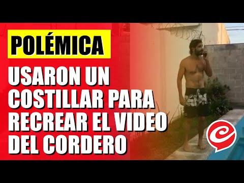 Polémica por cordobeses que usaron un costillar para recrear el video del cordero