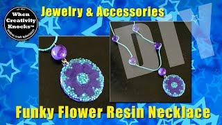 Funky Flower Resin Necklace