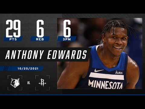Anthony Edwards ELECTRIFIES! Puts up 29 PTS, 6 REB on 6 3PM vs. Houston Rockets!