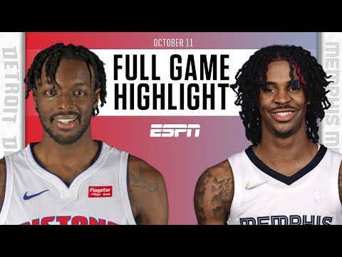 Detroit Pistons at Memphis Grizzlies   Full Game Highlights
