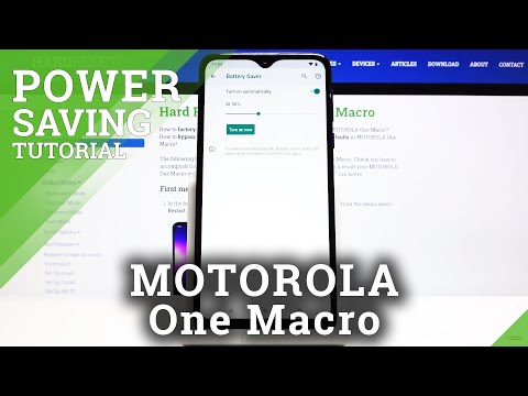 How to Activate Power Saving Mode in MOTOROLA One Macro – Turn On Power Saving Mode