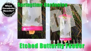 Etched Butterfly Feeder