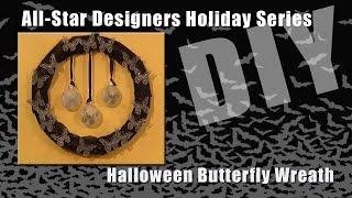 Halloween Butterfly Wreath