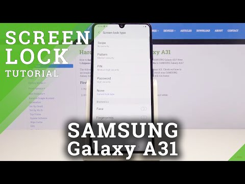 How to Set Up Lock Screen Method in Samsung Galaxy A31 – Add Lock Screen