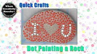 Dot Painting on a Rock