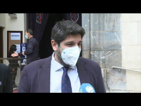 López Miras agradece el trabajo de las cofradías durante la pandemia