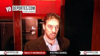 Pau Gasol lamenta derrota contra Dallas Mavericks