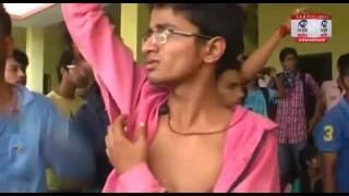 छात्र नेताओं व पुलिस प्रशासन के बीच जमकर नोक-झोक के साथ झड़प
