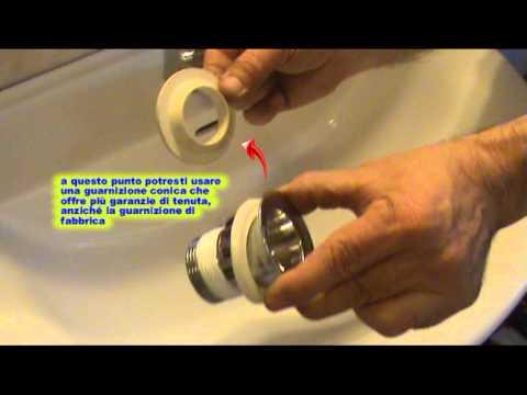 Come sostituire la piletta di scarico di un lavabo  Fai