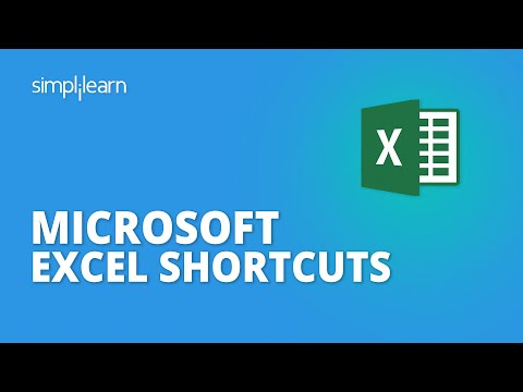Microsoft Excel Shortcuts 2020 | Best Excel Shortcuts A Computer User Must Know In 2020 |Simplilearn