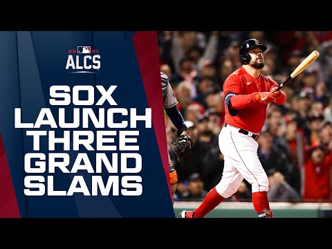 Red Sox launch THREE GRAND SLAMS in TWO ALCS games!