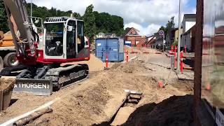 VIDEO: Nyt asfalt lægges på Hostrupvej i Hobro