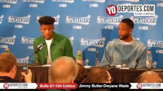 Jimmy Butler- Dwyane Wade Chicago Bulls 87-104 Boston Celtics