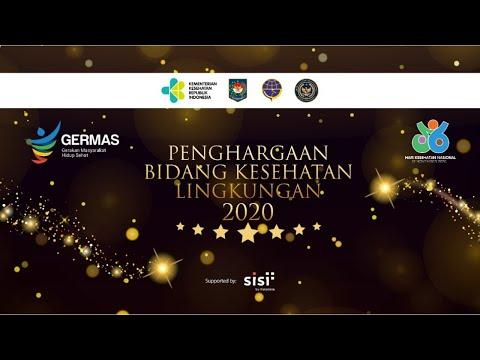 Pemberian Penghargaan Bidang Kesehatan Lingkungan Tahun 2020