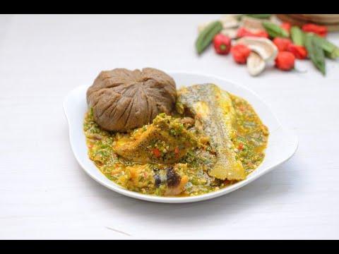 Fresh Fish Okro Soup & Plantain Swallow