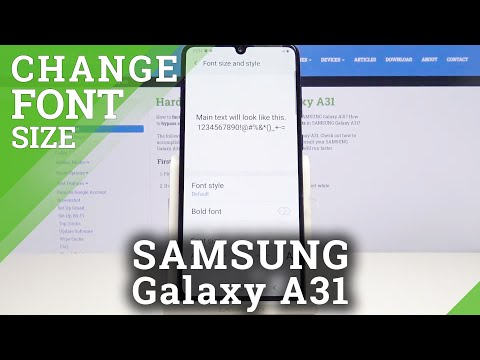 How to Change Font Size in SAMSUNG Galaxy A31 – Adjust Font Settings