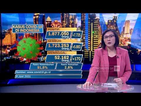 Update Covid-19 9 Juni:  Kasus Positif Bertambah 7.725