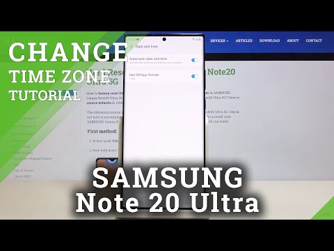 How to Change Time in SAMSUNG Galaxy Note 20 Ultra – Date & Time Settings