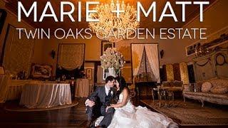 Marie +Matt Twin Oaks Garden Wedding Estate
