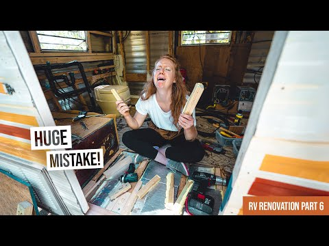 Vintage RV Renovation PART 6! - Our Biggest Mistake Yet 😭 + Finally Finished Demolition!