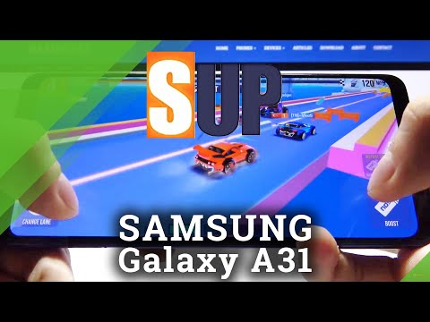 Discover Gaming Quality Test on Samsung Galaxy A31 - SUP Multiplayer Racing Gameplay