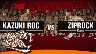 boty 2014 Kazuki rock vs Ziprock