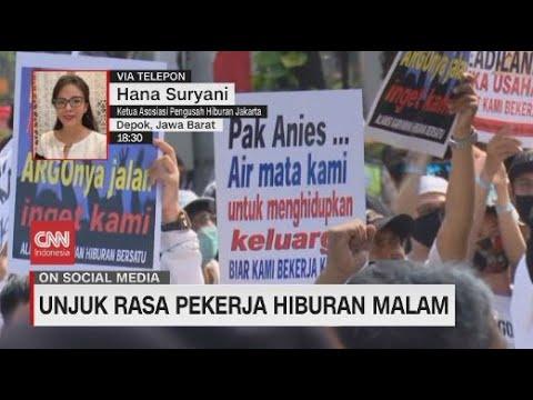 Tak Bisa Kerja, Pekerja Hiburan Malam Demo di Balai Kota
