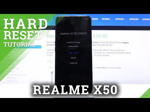 How to Hard Reset REALME X50 using Recovery Mode