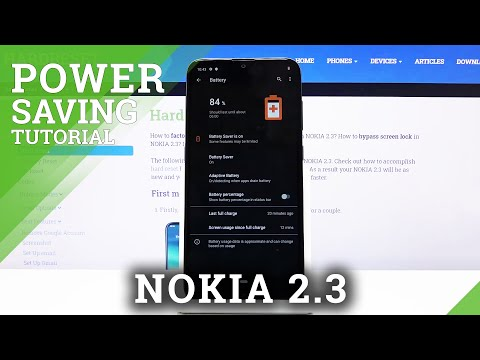 How to Save Power in NOKIA 2.3 – Battery Saver Tutorial