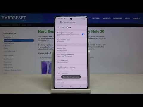 How to Clear Credentials in SAMSUNG Galaxy Note 20 – Delete Licenses