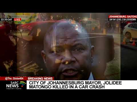 Joburg Mayor Jolidee Matongo dies after the ANC election programme in Soweto