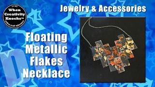 Floating Metallic Flakes Necklace