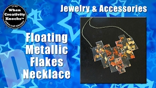 Floating Metallic Flakes Necklace