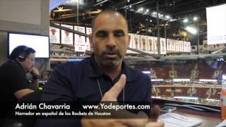 Adrian Chavarria la voz en español de los Rockets
