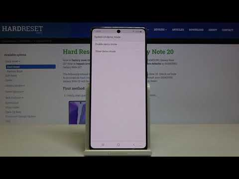 How to Enter Demo Mode in SAMSUNG Galaxy Note 20 – Find Demo Mode Option