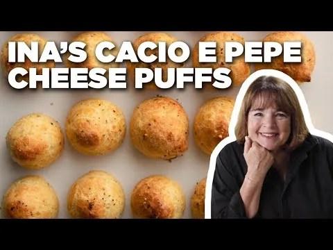 Ina Garten's Cacio e Pepe Cheese Puffs | Barefoot Contessa | Food Network