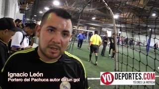 Ignacio Leon el portero del Pachuca que le hizo un gol al San Pedro