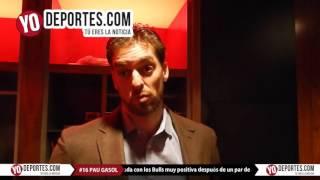 Pau Gasol hace balance de fin de año
