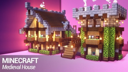 How to build a fantasy medieval house in Minecraft NoobForce