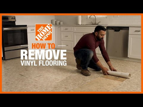 how to remove vinyl flooring the home