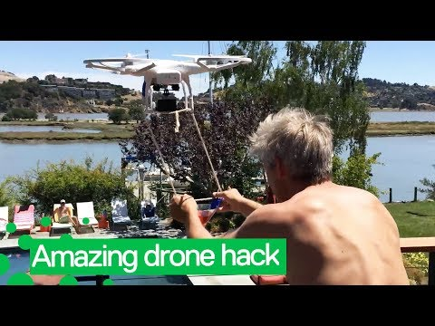 Cocktails Delivered by Drone | Amazing Drone Hack