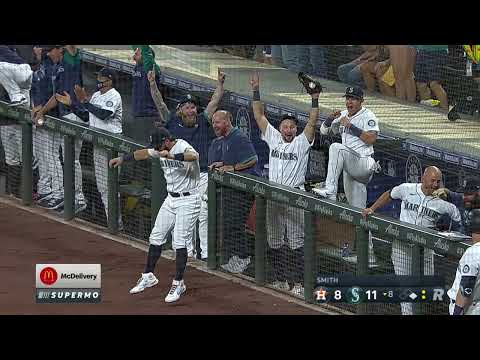 INSANE GRAND SLAM from MARINERS! M's clutch GS puts them ahead of Astros in crazy game!