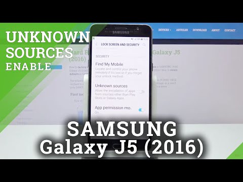 How to Enable Unknown Sources in SAMSUNG GALAXY J5 (2016) - Download Apps from Browser