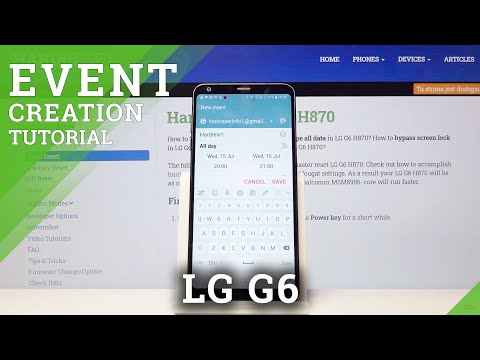 How to Add Event to Calendar in LG G6 - Create Calendar Reminder