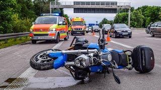 [A5: TÖDLICHES UNFALLDRAMA] Kradfahrer schleudert gegen Leitplanke & stirbt | Schock bei Biketour
