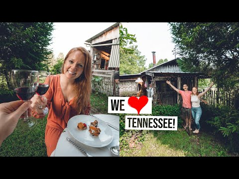 Tour of our TINY HOUSE Airbnb Cottage! + Incredible Farm to Table Dinner 😍  (Tennessee)