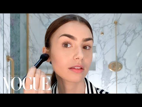 Lily Collins's Day-to-Night French Girl Look   Beauty Secrets   Vogue