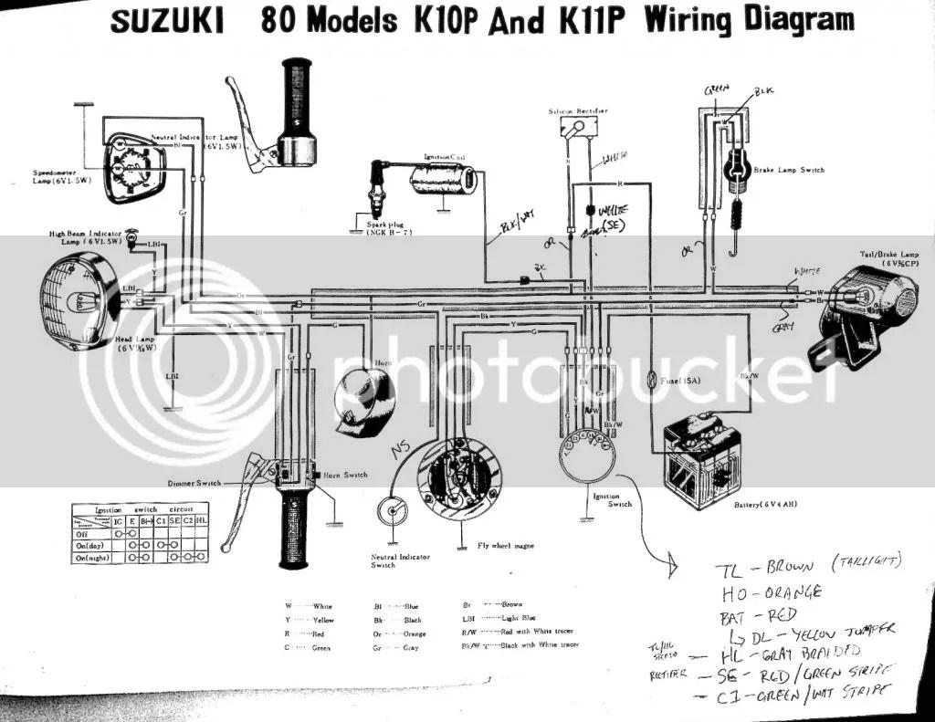 Suzuki K15 Wiring Diagram