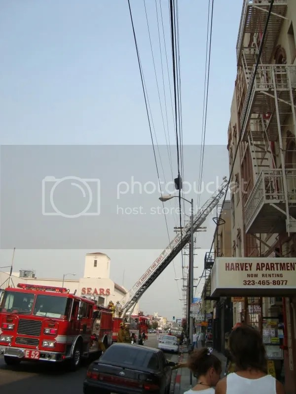 LAFD, Hollywood fire